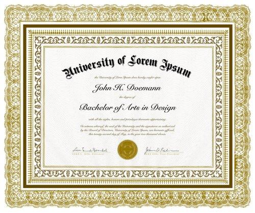 certificate - frames
